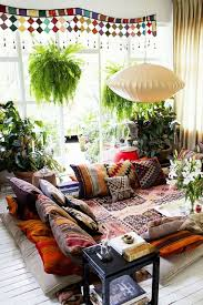 Home Patterns I Love The Bohemian Style Mixing Patterns And Textures And