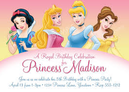 disney princess birthday invitations disney princess birthday