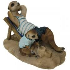 meerkats at the garden ornament available at the aquatic and