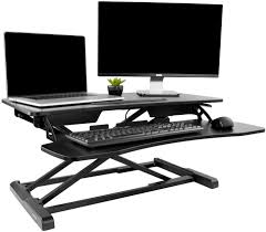 desk v000kheight adjustable standing desk sit to stand gas spring