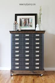 File Cabinet Wood by Metal Filing Cabinet Makeover My Diy Envy