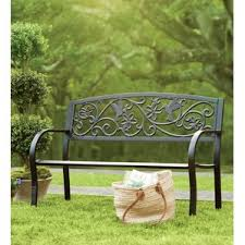 Outdoor Bench Furniture by Metal Patio Furniture