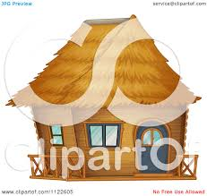 cartoon of a bamboo bungalow hut or house 7 royalty free vector