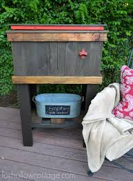 Decorative Coolers For The Patio by How To Build A Wood Deck Cooler Fox Hollow Cottage