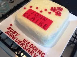 ruby wedding cakes ruby wedding cake bakearama