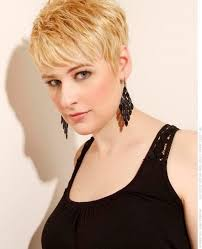 very short hairstyles with side bangs for long faces and thick