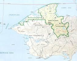 Denali National Park Map Bering Land Bridge National Preserve