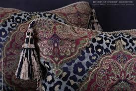leopardo damask decorative pillows brunschwig velvet 22 inches
