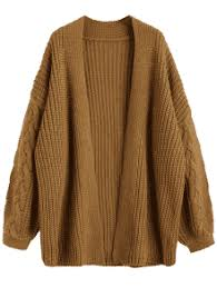 brown sweater cable knit chunky open cardigan brown sweaters one size zaful