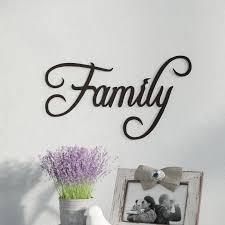 sign decor fleur de lis living family word sign fancy script wall décor