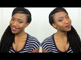 cover bald edges braid styles how to cover up fill in thinning edges hairline loc style