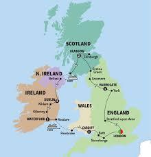 map uk harrogate britain and ireland highlights trafalgar