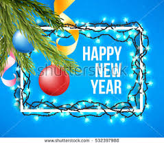 happy new years posters happy new year poster christmas lights stock vector 532397785