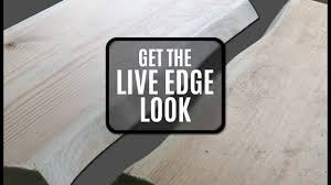 making a live edge table how to make wood look like it has a live edge saving you time and