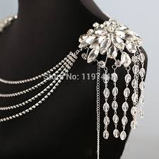 accessories chain necklace images Women long crystal necklace boday chain bridal shoulder strap jpg