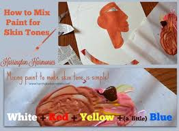 how to mix paint for skin tones harrington harmonies