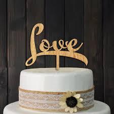 wedding cake sederhana sederhana kayu cinta cake toppers mengambil dekorasi untuk pesta