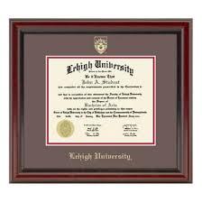 frame for diploma official lehigh diploma frame the fidelitas