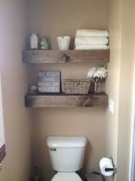 shelves in bathrooms ideas instead of cabinet rustic looking floating shelves can easily be