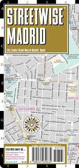 madrid spain map streetwise madrid map laminated city center map of madrid