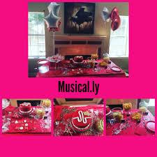 interior design creative music themed birthday decorations on a