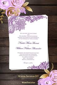 vintage lace wedding invitations vintage lace wedding invitation purple wedding template shop