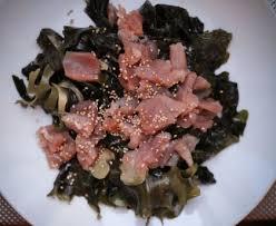 comment cuisiner les algues salade de thon aux algues recette de salade de thon
