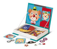 amazon com janod magnetibook crazy face toys u0026 games