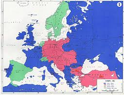 Map Of Ww1 Europe by Europe Map