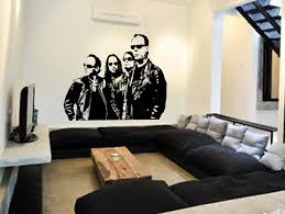metallica wall art sticker music decal heavy metal vinyl mural metallica wall art sticker music decal heavy metal vinyl mural wa662 large 144cm w x 115cm h amazon co uk kitchen home