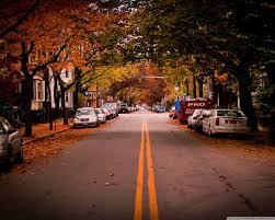 american town autumn hd desktop wallpaper high definition