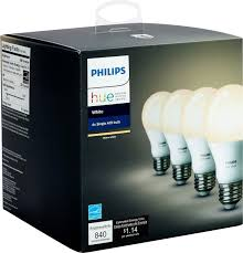 light bulbs that gradually get brighter philips hue white a19 wi fi smart led bulb 4 pack white 472027