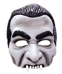 dracula half face mask vampire horror halloween fancy dress