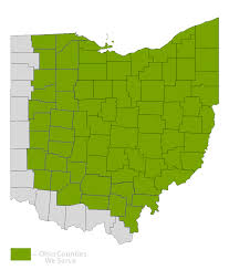 Map Ohio Counties by Sell Timber U2013 Coblentz Bros Inc
