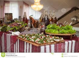 ukrainian thanksgiving traditional ukrainian wedding feast table closeup with salads m