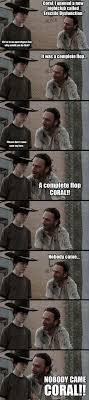 Rick Carl Memes - coral walking dead memes rick dick grimes coral meme collection