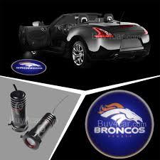nfl broncos denver broncos car door welcome led ghost shadow light