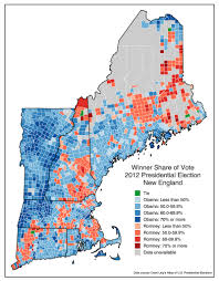 Election Map 2012 by The Results Of The 2016 Presidential Election In Each New England