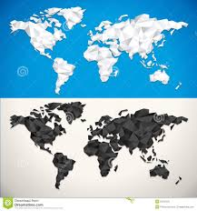 Free Vector World Map by Vector Low Poly World Map Stock Vector Image 50510725