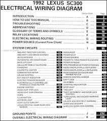 1992 lexus sc 300 wiring diagram manual original