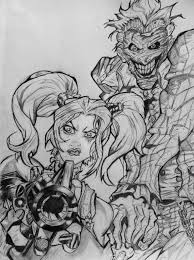 arkham city harley quinn and joker drawing by diegoe05 on deviantart