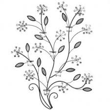 Twig Wall Decor Metal Wall Art With Candles Foter