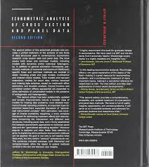econometric analysis of cross section and panel data amazon it