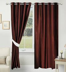 buy 84 x 48 inch brown polyester door curtain set of 2 by azaani