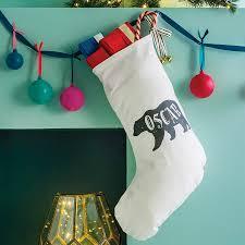 Stocking Personalised Polar Bear Name Christmas Stocking By Modo Creative