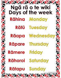 days of the week in maori