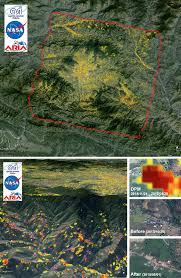 United States Earthquake Map by Nasa Damage Map To Assist With 2015 Nepal Quake Disaster Response