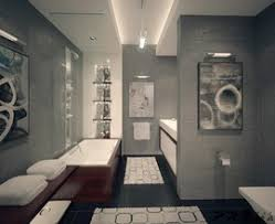 bathroom with luxury interior in modern apartment modern apartment