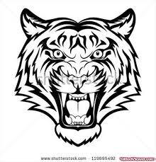 tribal angry tiger design tiger gemini