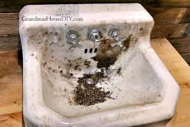american standard cast iron sink to clean and remove stains from an old cast iron sink